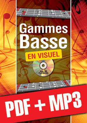 Les gammes de la basse en visuel (pdf + mp3)