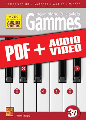 Gammes pour piano & claviers en 3D (pdf + mp3 + vidéos)