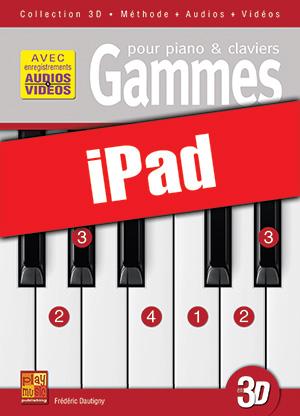 Gammes pour piano & claviers en 3D (iPad)