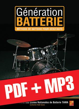 Génération Batterie - Débutant (pdf + mp3)