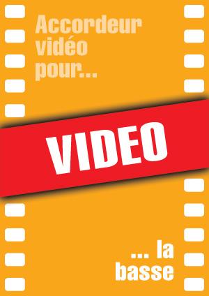 Accordeur vidéo pour la basse