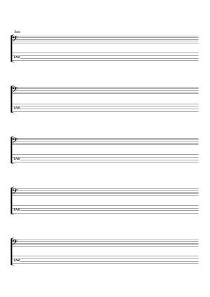 Pour la basse (solfège & tablatures)