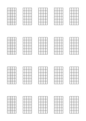 Diagrammes (6 cases) pour la guitare