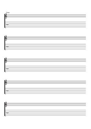 Pour la guitare (solfège & tablatures)