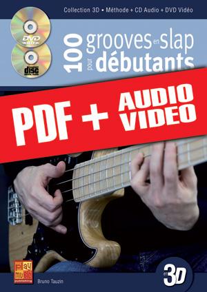100 grooves en slap pour débutants en 3D (pdf + mp3 + vidéos)