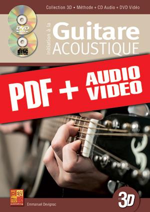 Initiation à la guitare acoustique en 3D (pdf + mp3 + vidéos)