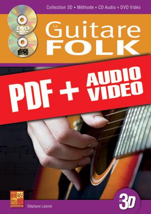 La guitare folk en 3D (pdf + mp3 + vidéos)