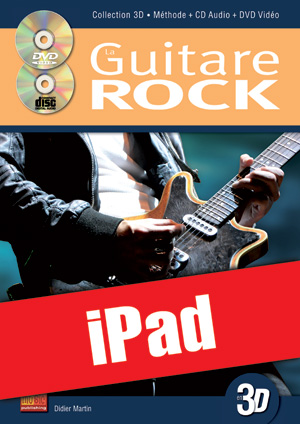 La guitare rock en 3D (iPad)