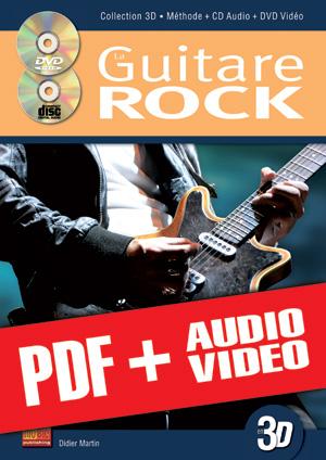 La guitare rock en 3D (pdf + mp3 + vidéos)