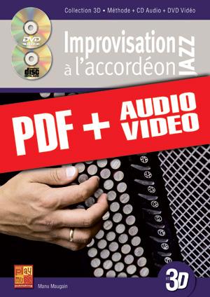 Improvisation jazz à l'accordéon en 3D (pdf + mp3 + vidéos)
