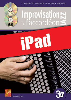 Improvisation jazz à l'accordéon en 3D (iPad)