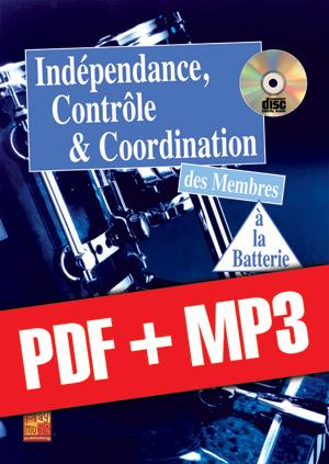Indépendance, contrôle & coordination à la batterie (pdf + mp3)