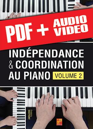 Indépendance & coordination au piano - Volume 2 (pdf + mp3 + vidéos)