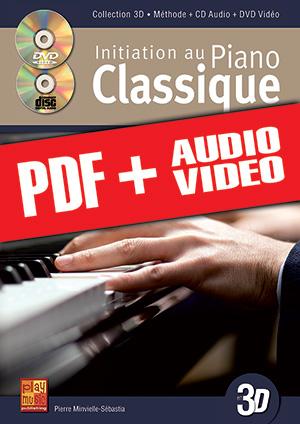 Initiation au piano classique en 3D (pdf + mp3 + vidéos)
