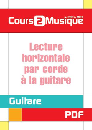 Lecture horizontale par corde à la guitare