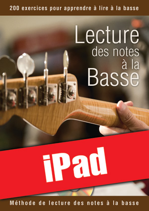 Lecture des notes à la basse (iPad)