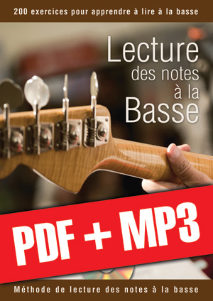 Lecture des notes à la basse (pdf + mp3)