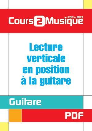 Lecture verticale en position à la guitare