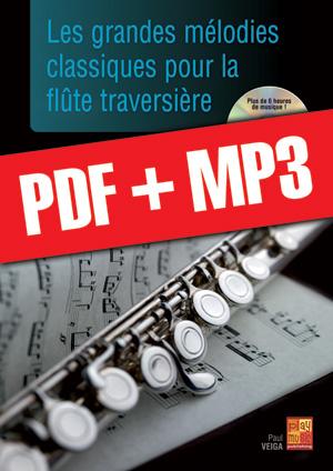 Les grandes mélodies classiques pour la flûte traversière (pdf + mp3)