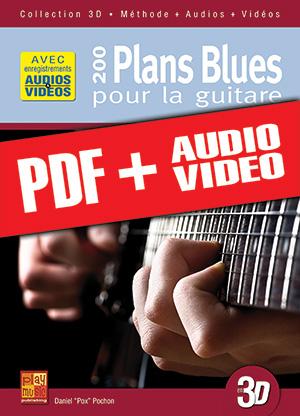 200 plans blues pour la guitare en 3D (pdf + mp3 + vidéos)