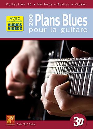 200 plans blues pour la guitare en 3D
