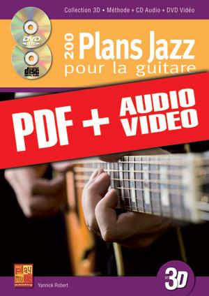 200 plans jazz pour la guitare en 3D (pdf + mp3 + vidéos)