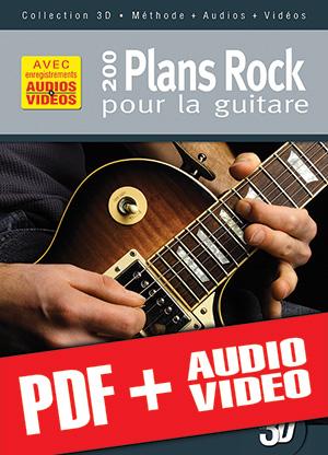 200 plans rock pour la guitare en 3D (pdf + mp3 + vidéos)
