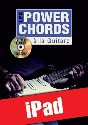 Les power chords à la guitare (iPad)
