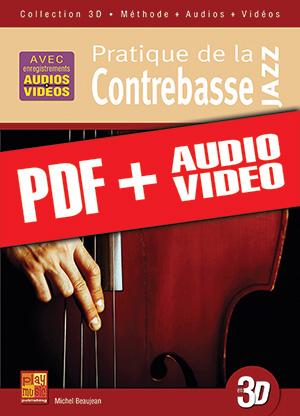 Pratique de la contrebasse jazz en 3D (pdf + mp3 + vidéos)