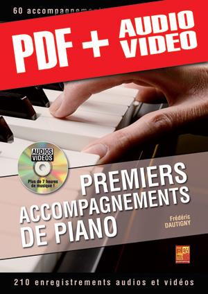 Premiers accompagnements de piano (pdf + mp3 + vidéos)