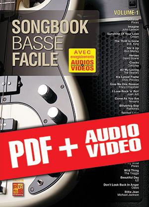 Songbook Basse Facile - Volume 1 (pdf + mp3 + vidéos)