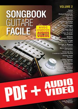 Songbook Guitare Facile - Volume 2 (pdf + mp3 + vidéos)