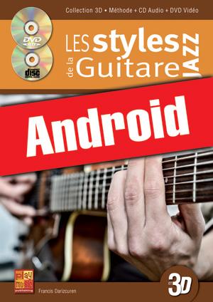 Les styles de la guitare jazz en 3D (Android)