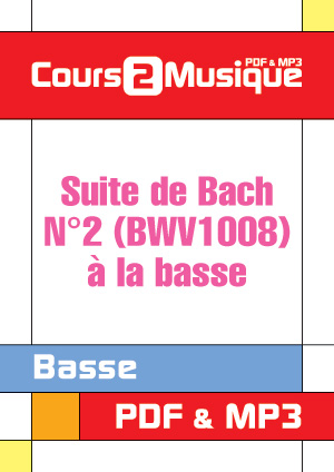 Suite de Bach N°2 (BWV1008) à la basse