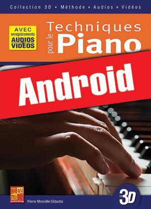 Techniques pour le piano en 3D (Android)