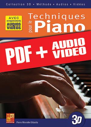 Techniques pour le piano en 3D (pdf + mp3 + vidéos)