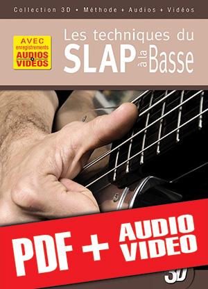 Les techniques du slap à la basse en 3D (pdf + mp3 + vidéos)
