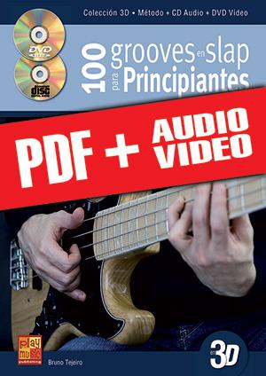 100 grooves en slap para principiantes en 3D (pdf + mp3 + vídeos)