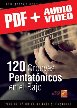 120 Grooves pentatónicos en el bajo (pdf + mp3 + vídeos)