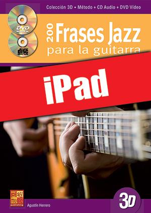 200 frases jazz para la guitarra en 3D (iPad)