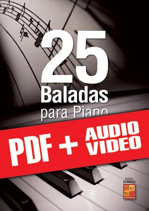 25 baladas para piano (pdf + mp3 + vídeos)