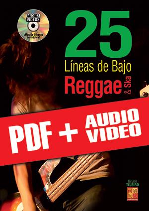 25 líneas de bajo Reggae & Ska (pdf + mp3 + vídeos)