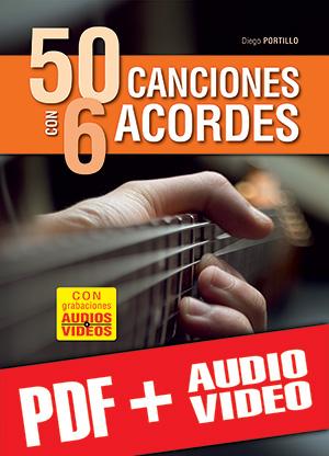 50 canciones con 6 acordes (pdf + mp3 + vídeos)