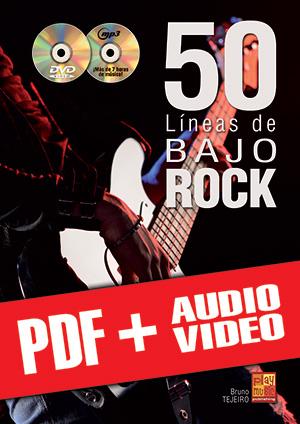 50 líneas de bajo rock (pdf + mp3 + vídeos)