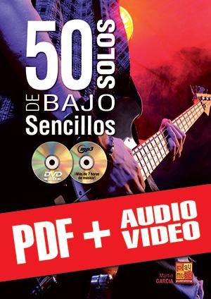 50 solos de bajo sencillos (pdf + mp3 + vídeos)