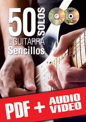 50 solos de guitarra sencillos (pdf + mp3 + vídeos)