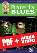 La batería blues en 3D (pdf + mp3 + vídeos)