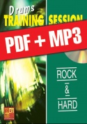 Drums Training Session - Rock & hard (pdf + mp3)