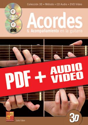 Acordes & acompañamiento en la guitarra en 3D (pdf + mp3 + vídeos)
