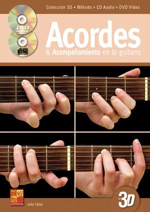 Acordes & acompañamiento en la guitarra en 3D